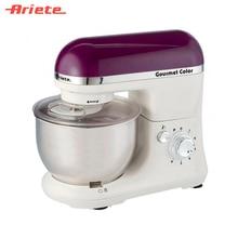 Кухонная машина Ariete 1594/01 Gourmet Rainbow, 6 скоростей, насадки для взбивания, смешивания и замешивания теста, объем чаши 4 литра