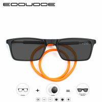 New Design Magnets Folding glasses Photochromic Reading glasses Men Women presbyopic Sunglasses color change and Diopter