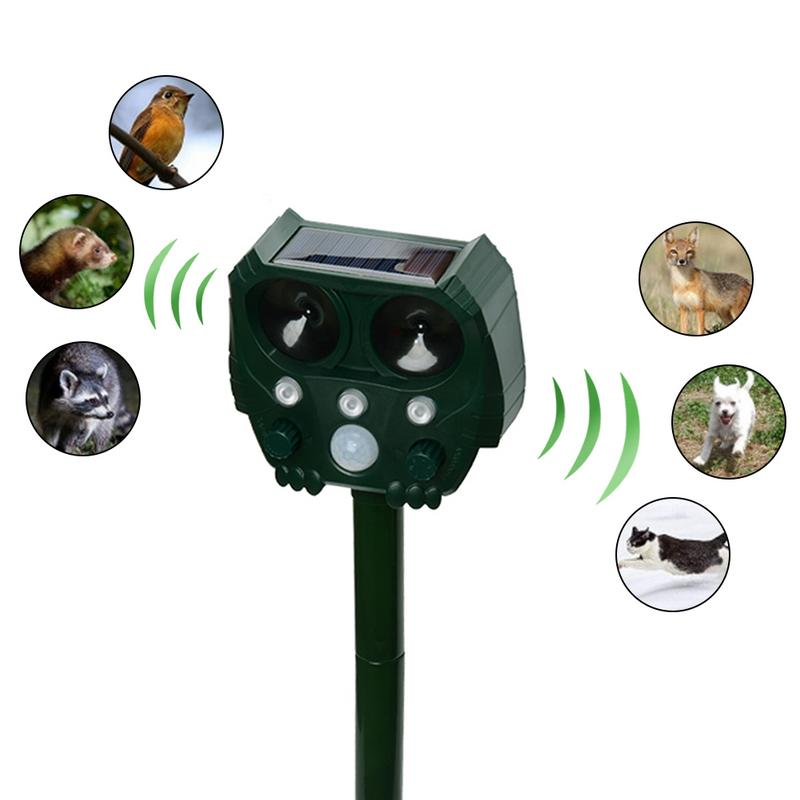 Image 2 - Animal Repeller Solar light bird repeller frighten animals Induction Ultrasonic Strobe Light Burglar Alarm-in Repellents from Home & Garden