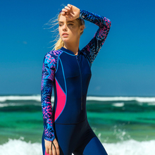 Sbart Women One-Piece Wetsuit Long-Sleeved Surf Diving Suit Surfing Uv Protection Prevent Jellyfish Wetsuit Snorkeling Swimsuit цена