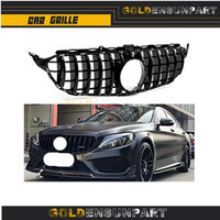 GT front grille for mercedes W205 suitable 2015 2018 sport front grill amg GT R style ABS not fit c63 for C Class C180 C200 C300