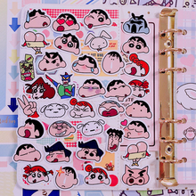 36pcs / Pack Ins Funny Face Sticker Bag Hand Account Album Decoration Cute Shin-chan Notebook Diary Phone