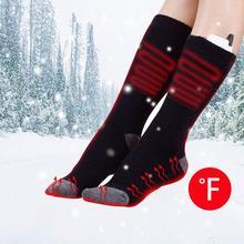 Usb Перезаряжаемый Аккумулятор спортивные лыжные носки с подогревом для женщин и мужчин Хлопковые уличные походные теплые гетры