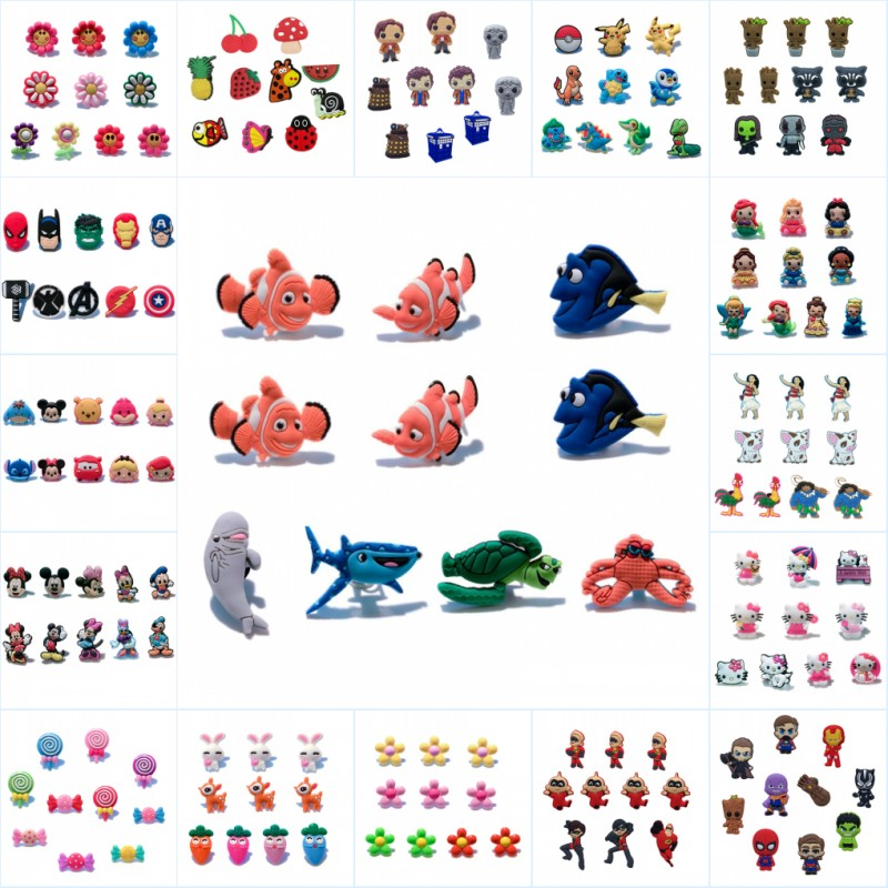 ce0f157871c0 Aliexpress.com   Buy 10pcs TSUM Mickey Avenger Groot Finding Nemo Cute  Cartoon Shoe Charms PVC Accessory Buckle fit Wristband Croc JIBZ Kid Xmas  Gift from ...