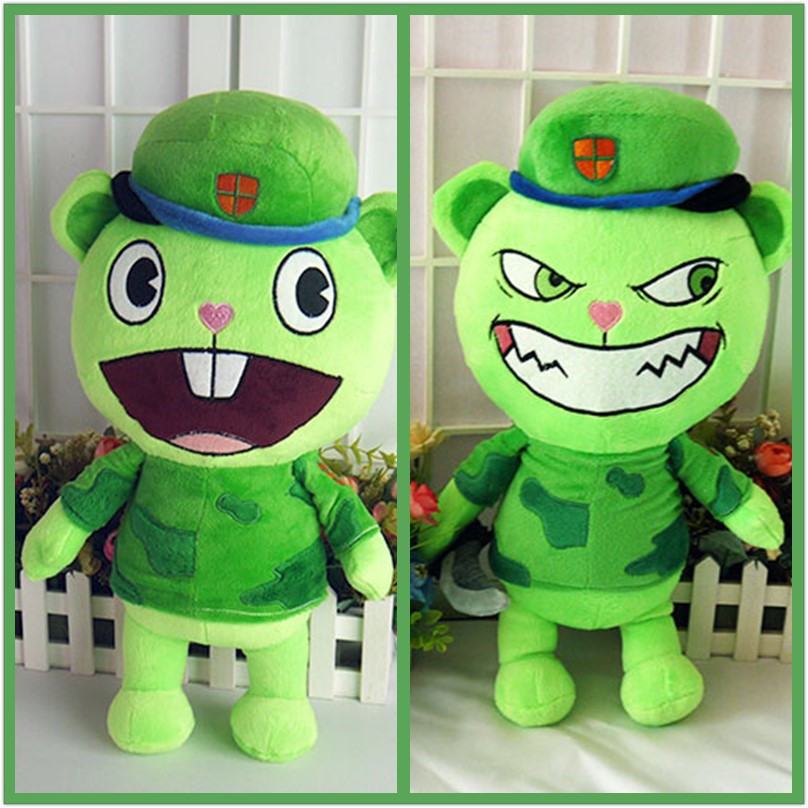 happy tree friends flippy anime - Happy Tree Friends plush dolls Anime HTF Flippy plush toys 40cm soft pillow high quality for gift free shipping