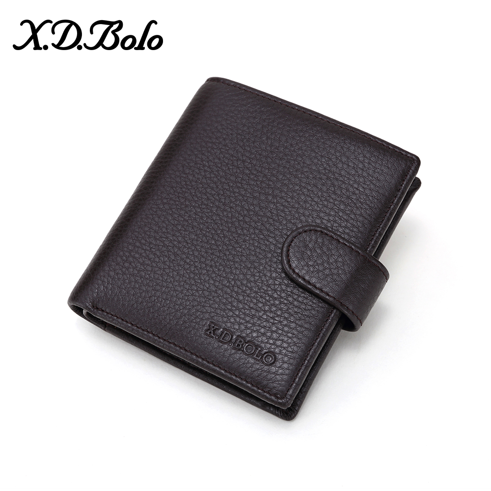 X D BOLO Fashion Men s Short Wallet Men Genuine Leather Clutch Wallets Purses Real Leather