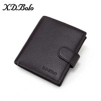 X.D.BOLO Fashion Men's Short Wallet Men Genuine Leather Clutch Wallets Purses Real Leather Multi-Card Coin Wallet for Men - DISCOUNT ITEM  0% OFF All Category