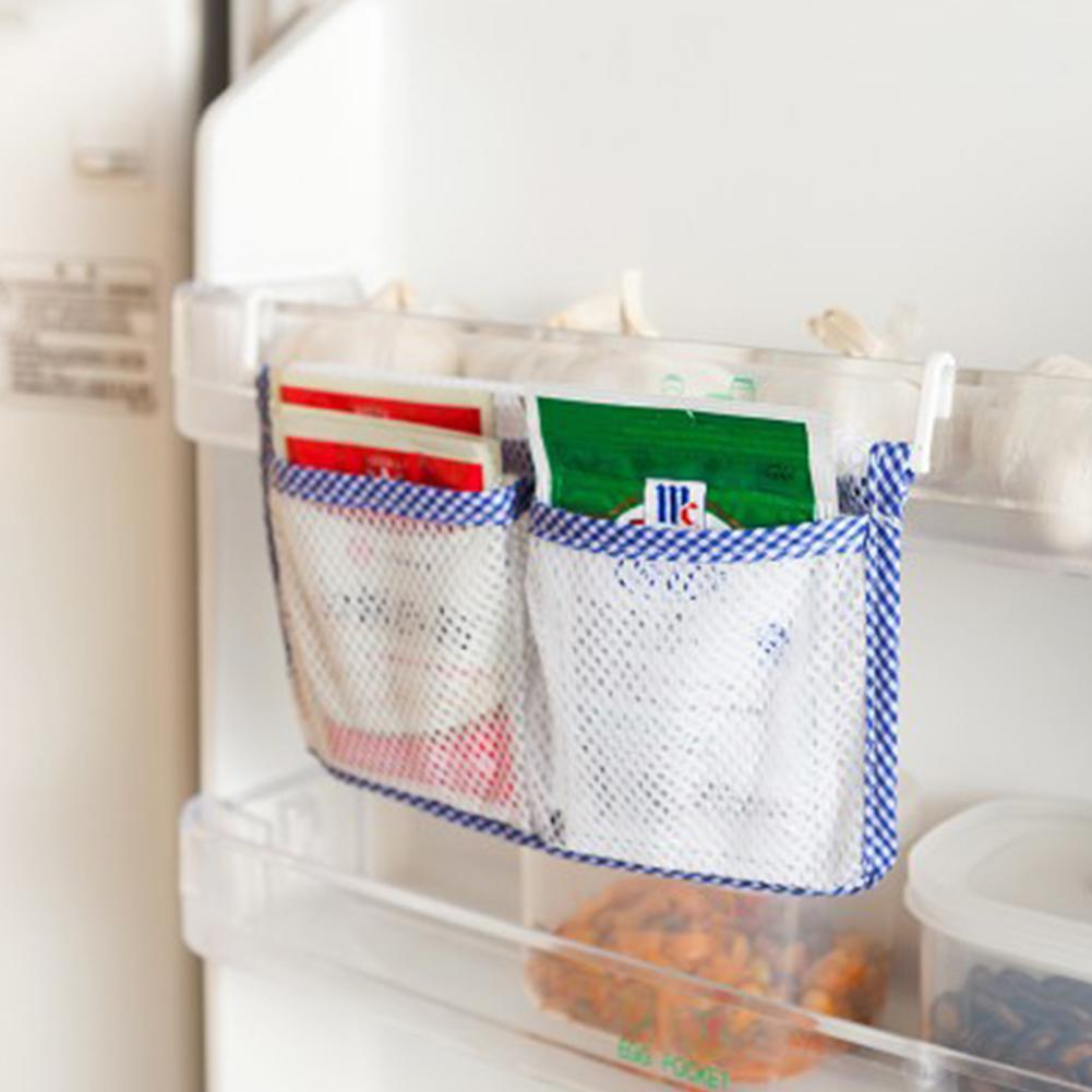 Permalink to Kitchen Refrigerator Hanging Storage Bag Food Organizer Fridge Mesh Holder storage organizer kitchen cabinet storage
