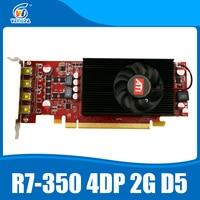 Многоэкранный Дисплей карты R7 350 2 ГБ GDDR5 128Bit 4DP для низкий профиль PC Поддержка 4 режима Дисплей
