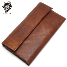 2020 New Retro Trend Womens Wallets For Ladies Clutches 100% Genuine Leather Thin Clutch Wallet For Girls Long Coin Card Purses