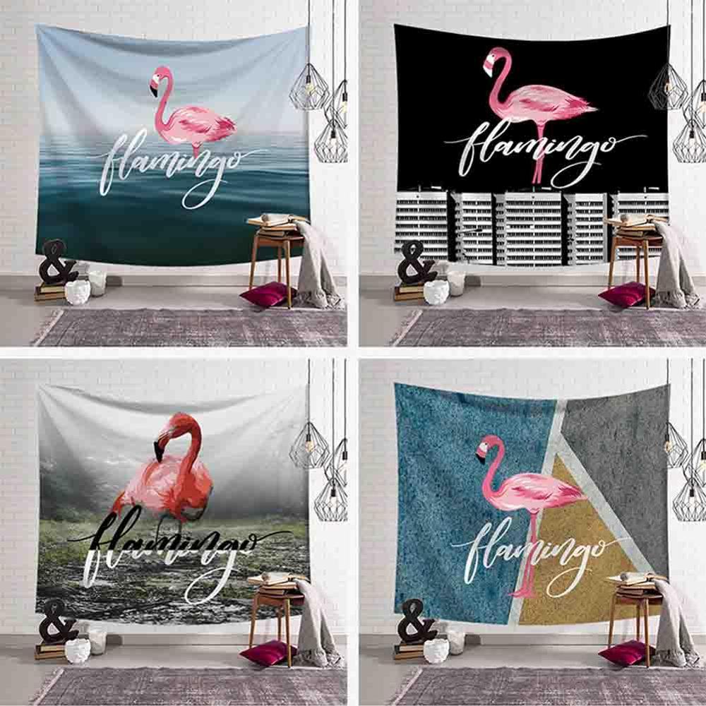 Flamingo série maison tapisserie décorative animaux tenture murale tapisseries Polyester tissu Gobelin Mural tissu de plage tapis de Yoga