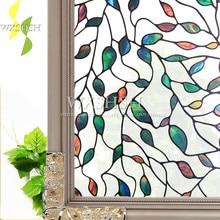 90*200 см цветной лист шаблон окно декоративная пленка для стекла; самоклеющиеся электростатические защиты конфиденциальности наклейки для дома, стеклянная фольга