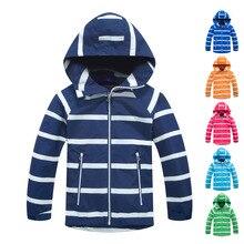 Garçon imperméable veste matelassée veste de Sport coupe vent polaire manteau chaud automne enfants veste enfants coupe vent à capuche