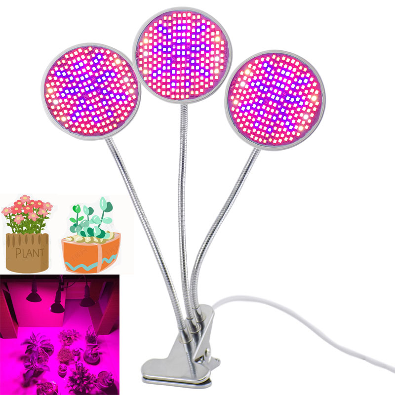 New 200 LED Growing Light For indoor Hydroponics Flower Seedling Greenhouse Growth Full Spectrum Lamp UV