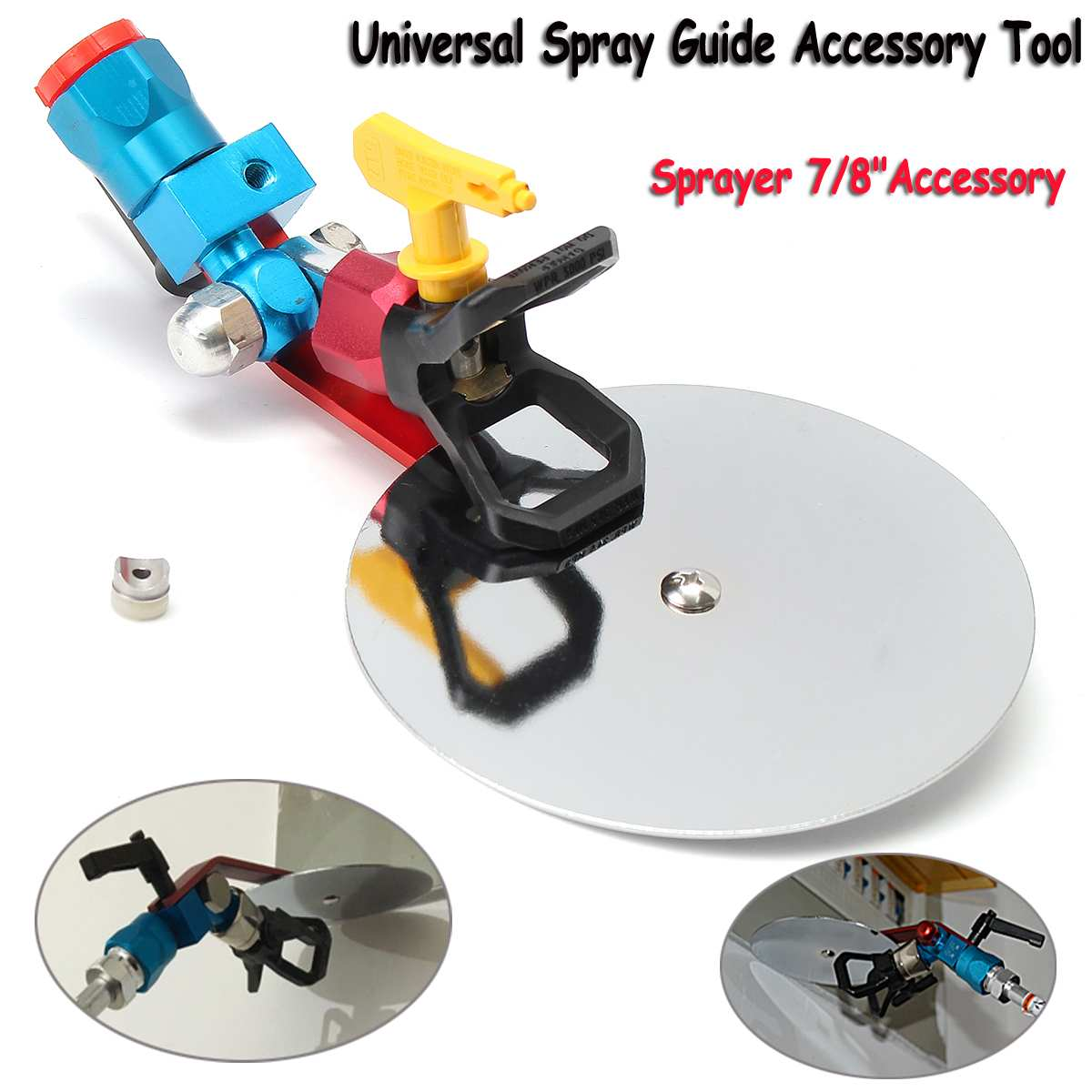 Spray Guide Accessory Tool for 7/8 Spary G u n Paint Sprayer with Airless Spray Tip Power Tool Spraying Machine Guide Tool