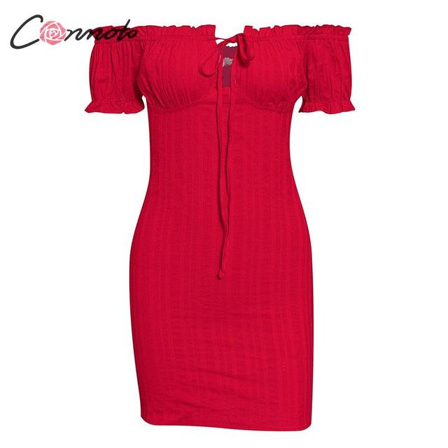 Conmoto Sexy Off Shoulder Short Dress