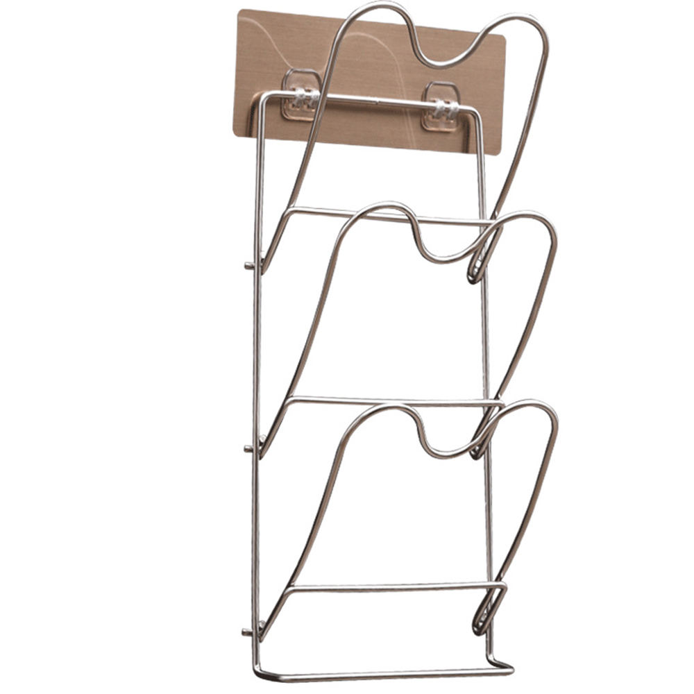 Stainless Steel Pot Lid Rack Shelf Holder Pan Cover Cutting Board Holder Organizer Bakeware Rack For Kitchen Accessories