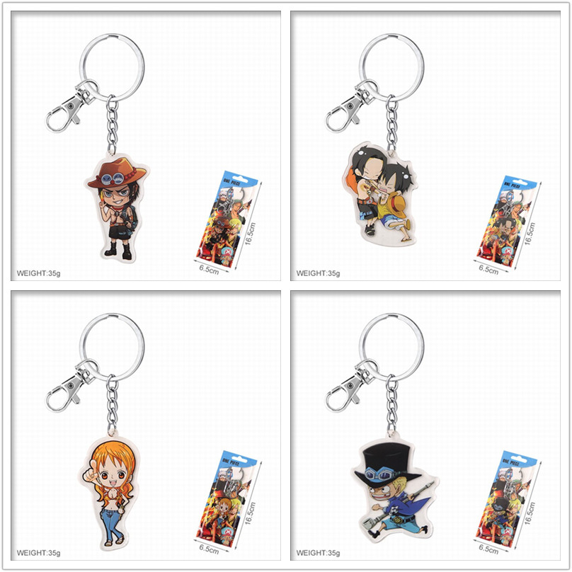 Anime One Piece Luffy Zoro Sanj Usop Nami Keychain Key Ring