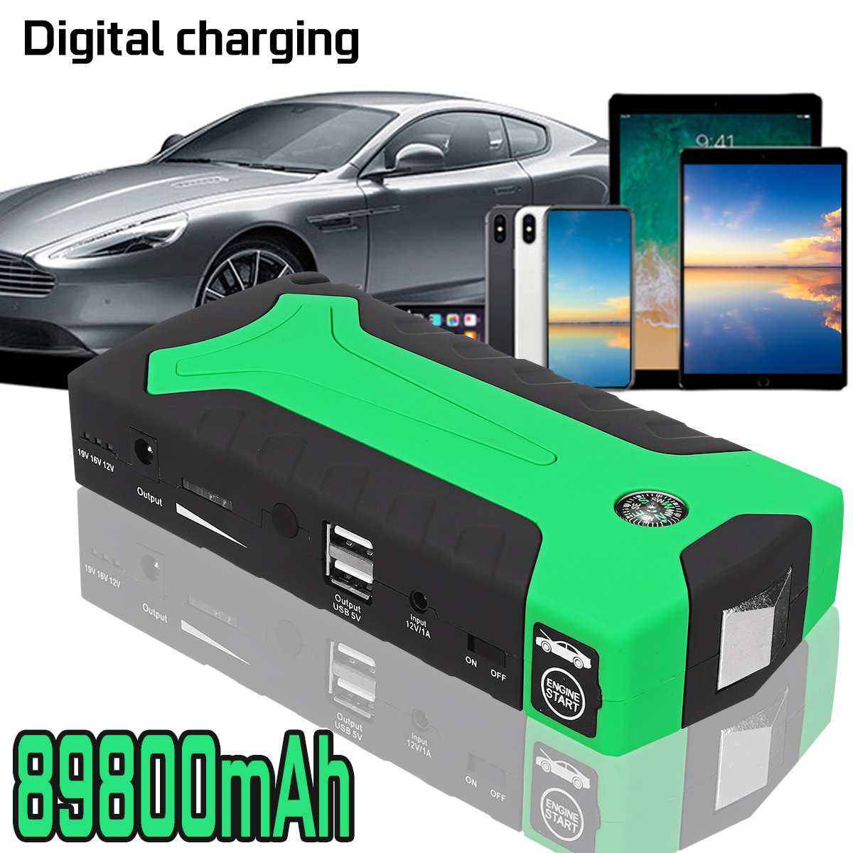 600A 89800 mAh Super puissance voiture saut démarreur Portable voiture d'urgence batterie Booster batterie externe 12 V dispositif de démarrage essence Diesel