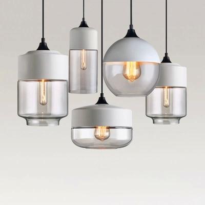 Nordic Loft LED Chandelier Lighting Pendant Lamp Lights Glass E27 Hanging Lamps Kitchen Fixtures Bar Living Room Bedroom Luxury
