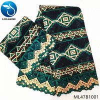 LIULANZHI jacquard brocade fabric cotton fabrics for tablecloths green bazin cotton fabric patchwork latest 7yards/lot ML47B10