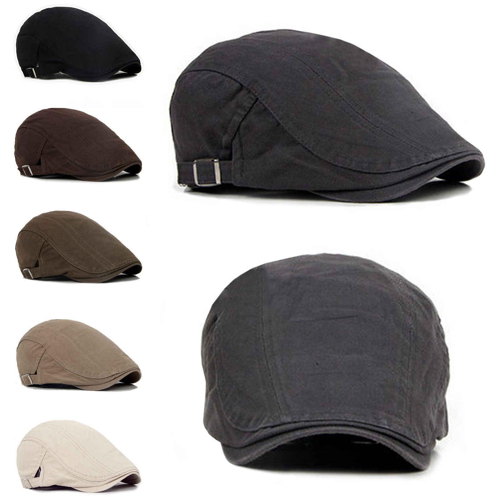 962af722 New Men's Ivy Hat Berets Cap Golf Driving Adjustable Sun Flat Plain Cabbie Newsboy  Cap-