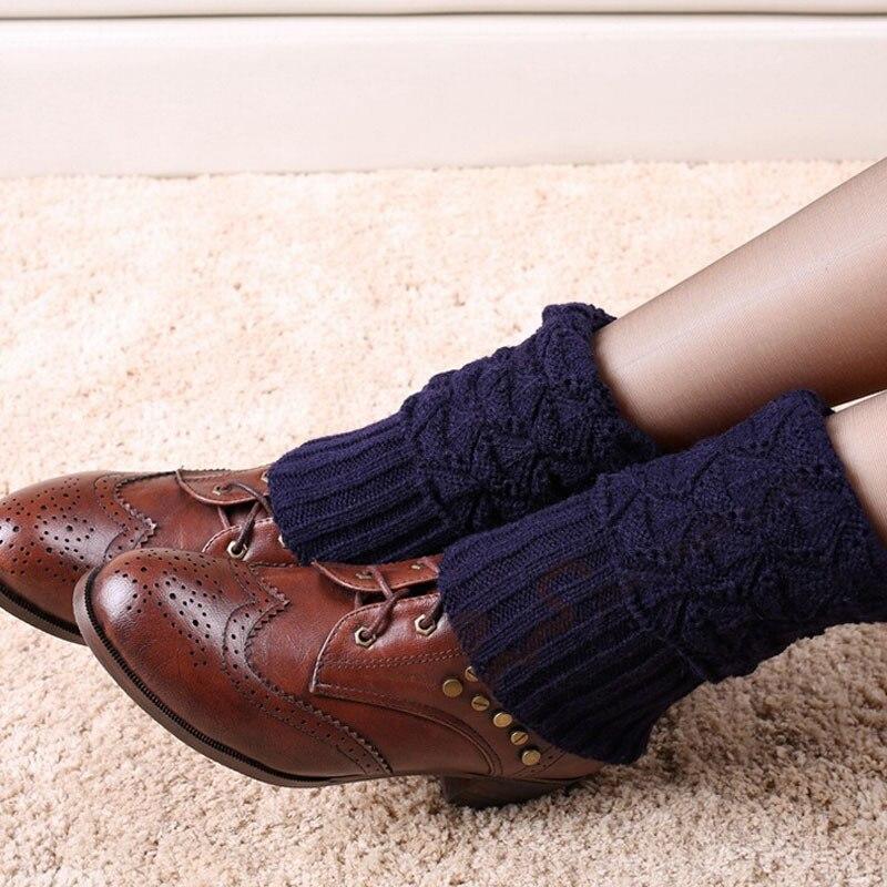 TOIVOTUKSIA Stickade benvärmare för kvinnor Virkade gångjärn - Underkläder - Foto 2
