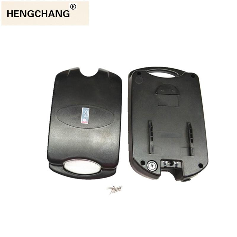 frog style case battery storage box 36v 48v bike battery plastic case with Power display lamp