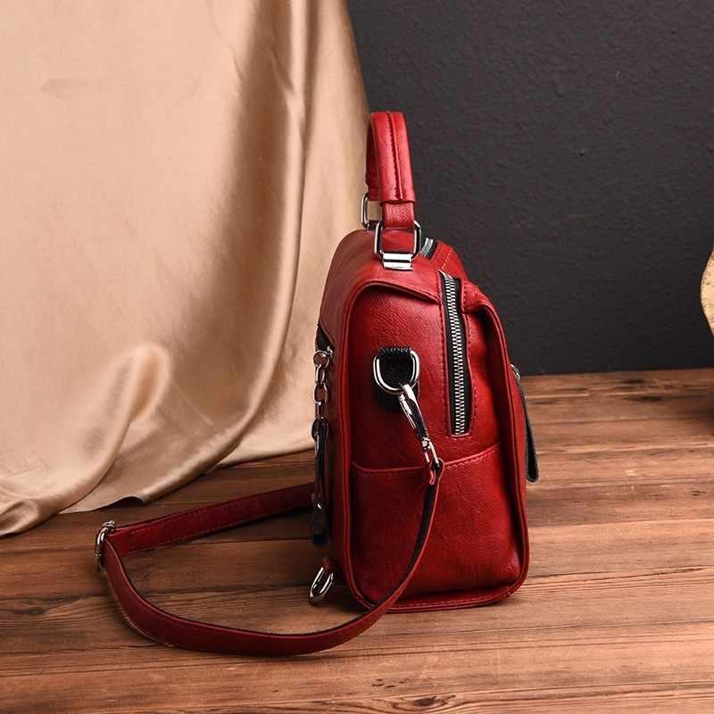 2019 женские рюкзаки высокого качества Sac A Dos Femme женский рюкзак с кисточками винтажный рюкзак для путешествий однотонный повседневный рюкзак для девочек