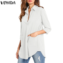 VONDA Women Blouses Shirts 2019 Autumn S
