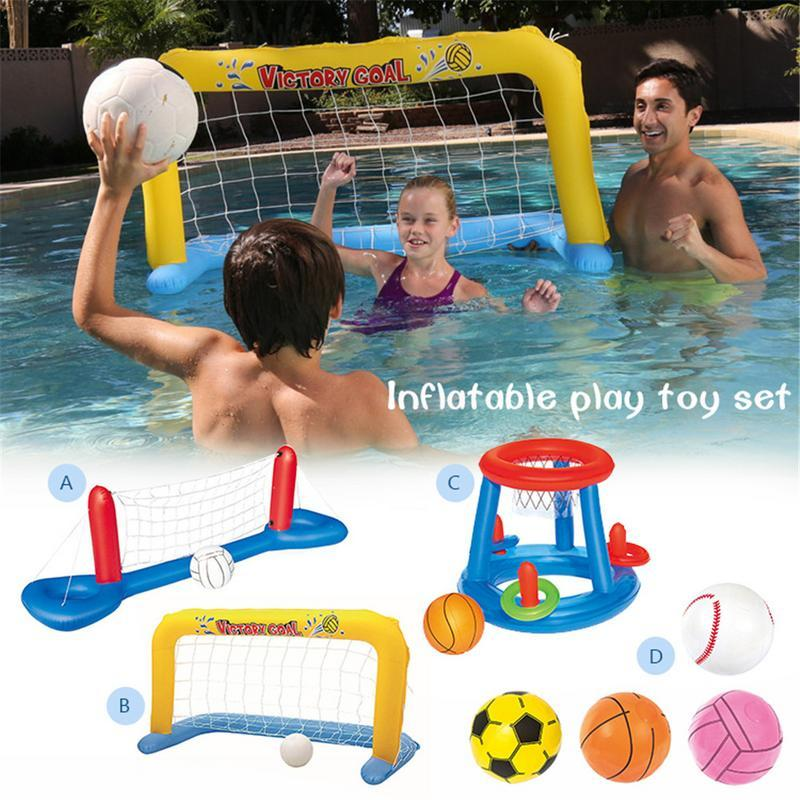 Inflatable Football Goal Volleyball Basketball Water Balloons Swimming Pool Sports Game Toys Beach Party Ball For Children Adult