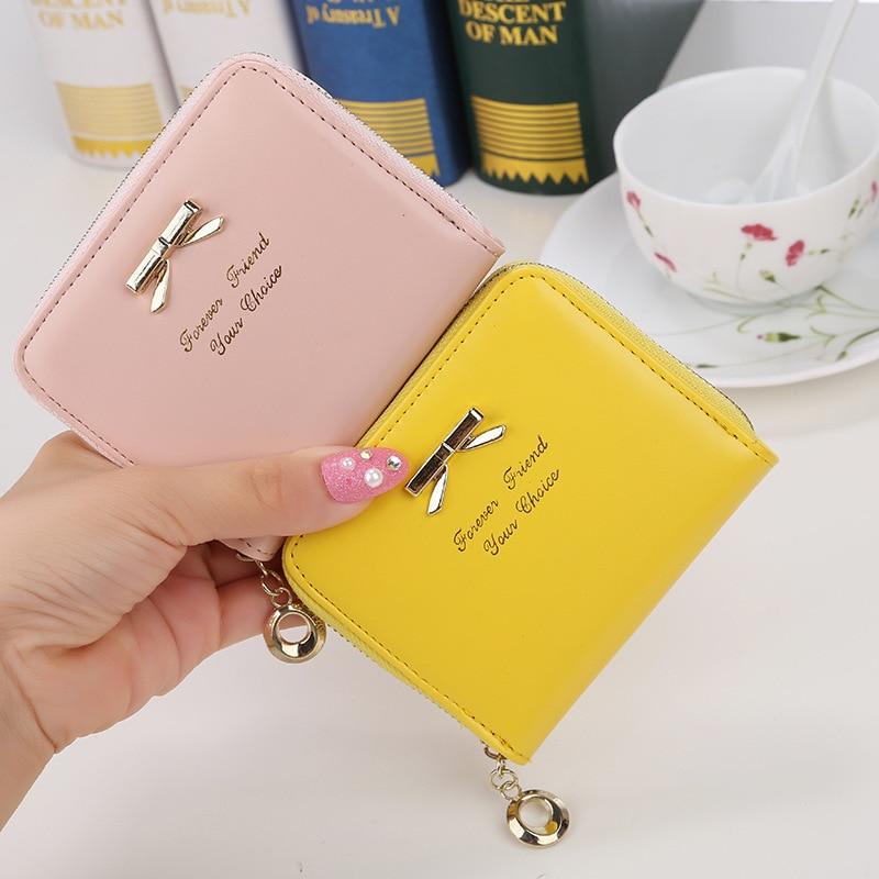 New Fashion Design Women Coin Case Cute Hot Wallet  Bifold Short Mini Zipper Around Purse PU Leather Good Quality Coin Pouch