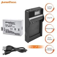 LP-E5 battery bateria lp e5 lpe5 batteries + LCD USB charger for Canon DSLR EOS 500D 450D 1000D kiss x3 sport camera L15