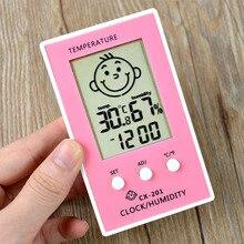 Outdoor Hygrometer Lcd-Display Digital Home Clock Smile-Accurate Baby