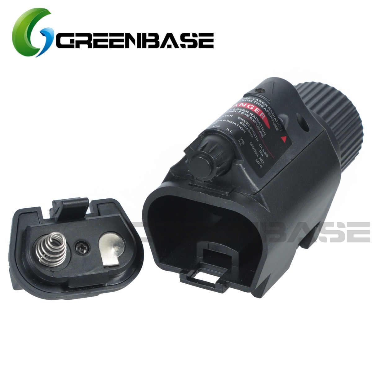 Greenbase, mira láser táctica M6 de punto rojo, juego de mira para Glock, Rifle, pistola, tiro, linterna LED Combo con adaptador QD compatible con riel de 20mm