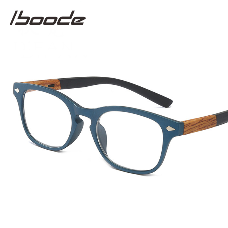 Iboode Wood Grain Reading Glasses For Women Men Fashion Presbyopia Presbyopic Eye Glasses Male Feamle Diopter + 1.50 2.5 3.5