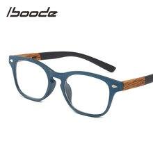 Iboode-Anteojos de lectura en madera para mujeres y hombres, gafas para leer unisex, a la moda, adecuada para presbicia y dioptrías + 1.50 2.5 3.5