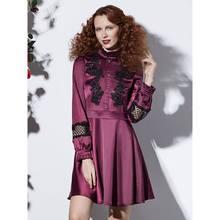 Женские мини платья элегантные фиолетовые повседневные вечерние