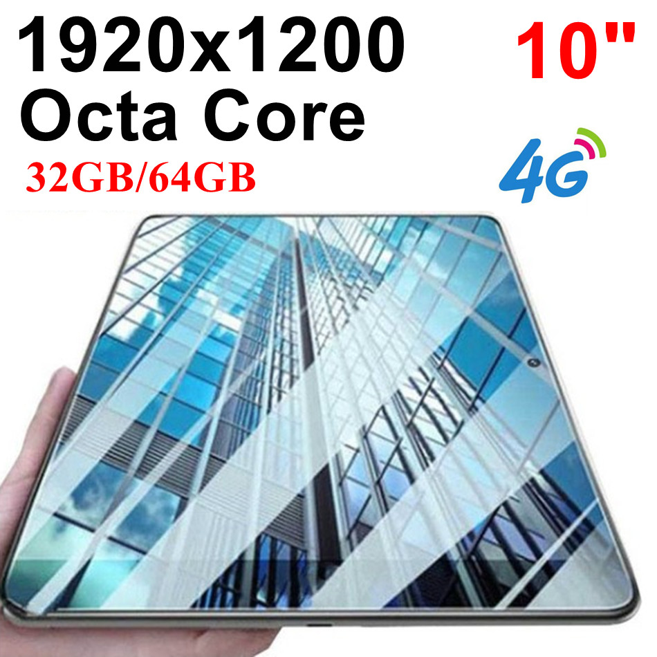 KUHENGAO New Octa Core 10 Inch Tablet Pc 4G LTE/FDD With Phone Call Android Tablet 32/64GB 1920*1200 IPS WiFi Bluetooth 10 10.1
