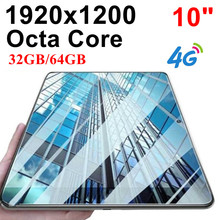 KUHENGAO New!!!Octa Core 10 inch card Tablet Pc 4G LTE call phone mobile 4G the android tablet pc 32/64GB 1920*1200 IPS 10 10.1