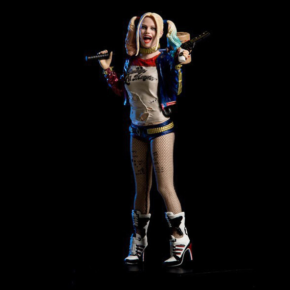 2019 New Figurine Anime Figure Movie Game Dolls Model Suicide Squad Harley Quinn 7' Dc Iron Scale Collectible Figure Toy 18cm