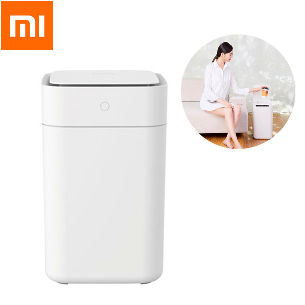 Original Xiaomi Townew T1 Smart Trash Can Motion Sensor Auto Sealing LED Induction Cover Trash 15.5L Mi Home Ashcan BinsOriginal Xiaomi Townew T1 Smart Trash Can Motion Sensor Auto Sealing LED Induction Cover Trash 15.5L Mi Home Ashcan Bins