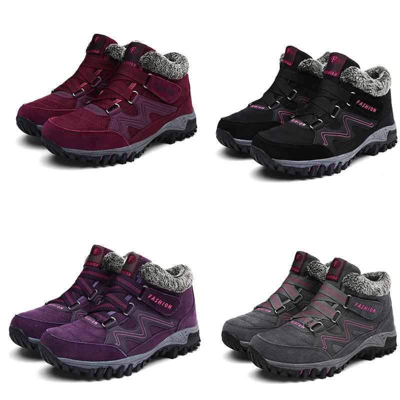 Deporte gris vino Tamaño Invierno Nis Zapatillas Mujeres Altos Mujer Encaje púrpura Plus Botas Otoño Casuales Zapatos Gamuza Negro Tinto Tobillo Arriba De awRUq5RxA