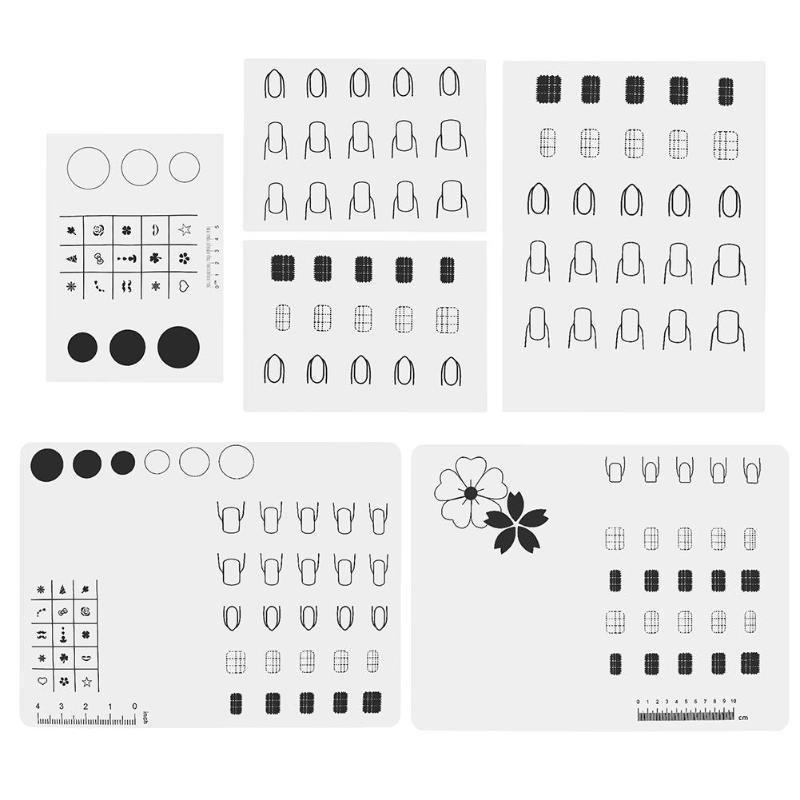 1Pcs Silica Gel Nail Polish Filling Plate Manicure Table