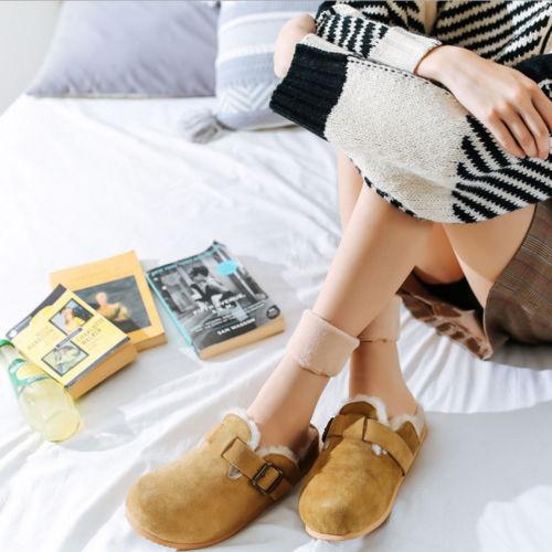 2019 Hirigin Brand Hot Women 39 s Solid Winter Thick Warm Fleece Lined Thermal Stretchy Socks Elastic in Socks from Underwear amp Sleepwears