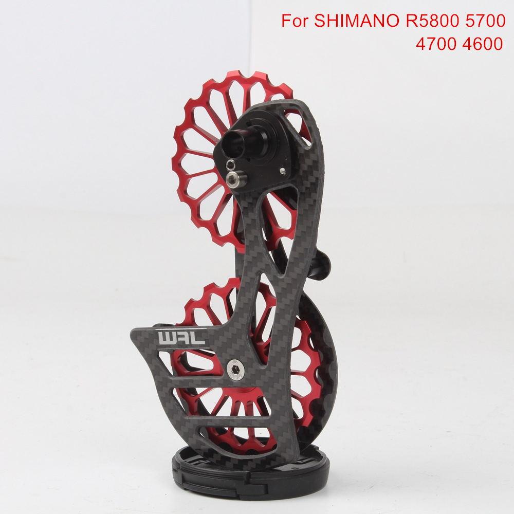 Vélo Jockey poulie en Fiber de carbone roulements en céramique 17 T dérailleurs arrière jeu de roues de guidage pour Shimano R5800 5700 4700 4600