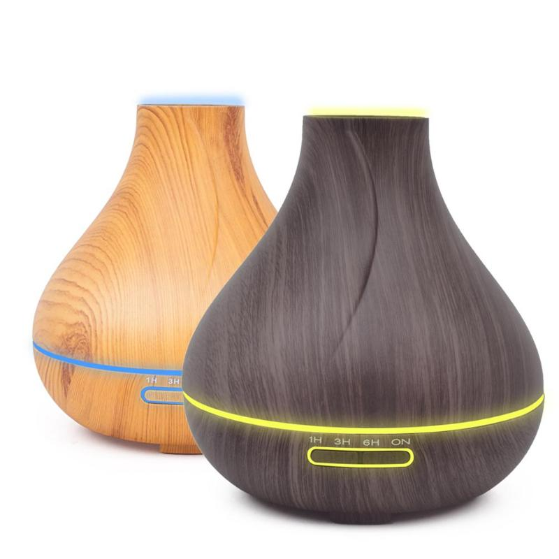 400ml Aroma Essential Oil Diffuser Ultrasonic Air Humidifier with Wood Grain 7 Color Night Light Timing Aromatherapy Diffuser400ml Aroma Essential Oil Diffuser Ultrasonic Air Humidifier with Wood Grain 7 Color Night Light Timing Aromatherapy Diffuser