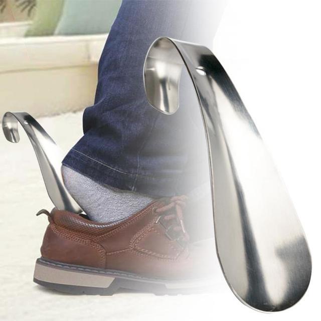 1 個プロフェッショナル靴べら 14.5 センチメートルステンレス鋼金属靴ホーンスプーン靴べら靴リフターツール