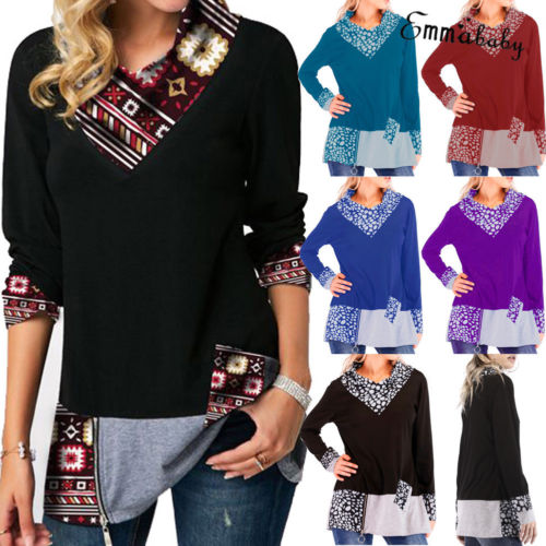 New 2019 Women's Long Sleeve Hoodie Sweatshirt Hooded Jumper Pullover Tops Plus Size