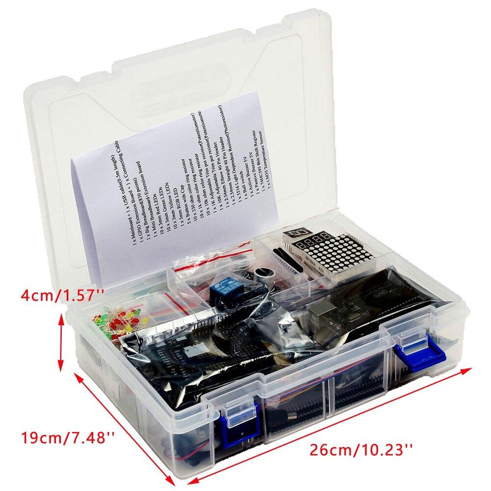 UNO R3 Starter Kit for Arduino 1602LCD Servo Ultrasonic Motor LED Relay RTC ultimate starter learning